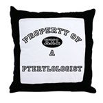 Property of a Pterylologist Throw Pillow