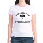 Property of a Pterylologist Jr. Ringer T-Shirt
