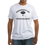 Property of a Pterylologist Fitted T-Shirt
