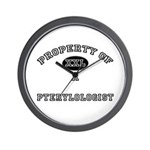 Property of a Pterylologist Wall Clock