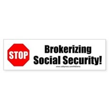 """Save Social Security"" Bumper Bumper Sticker"