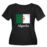 Algeria Women's Plus Size Scoop Neck Dark T-Shirt