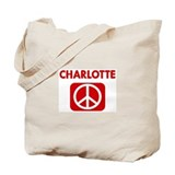 CHARLOTTE for peace Tote Bag