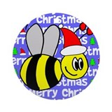 Christmas Bumble Bee Ornament (Round)