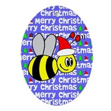 Christmas Bumble Bee Oval Ornament
