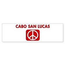 CABO SAN LUCAS for peace Bumper Bumper Sticker