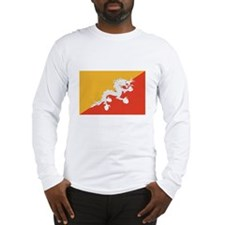 Bhutan Flag Long Sleeve T-Shirt