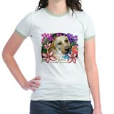 Yellow Labrador Retriever  Jr. Ringer T-shirt