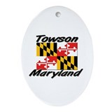 Towson Maryland Oval Ornament