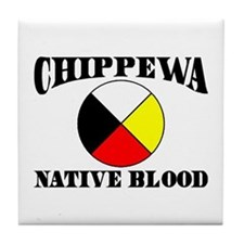 Chippewa Native Blood Tile Coaster