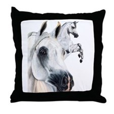 Grey Arabian Throw Pillow