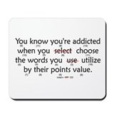 Scrabble Points Mousepad