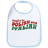Proud Polish Italian Bib