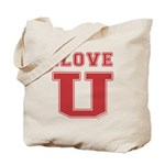 I Love U. Tote Bag