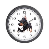 Three Dobes Wall Clock