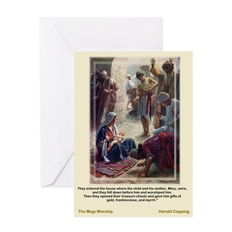 The Magi Worship-Copping-Greeting Card