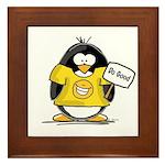 Do Good Penguin Framed Tile