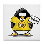 Do Good Penguin Tile Coaster