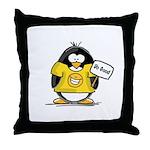 Do Good Penguin Throw Pillow