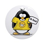 Do Good Penguin Ornament (Round)