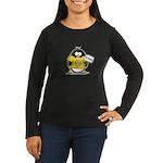 Do Good Penguin Women's Long Sleeve Dark T-Shirt