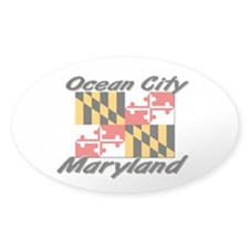 Ocean City Maryland Oval Decal