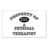Property of a Physical Therapist Sticker (Rectangu