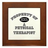 Property of a Physical Therapist Framed Tile