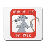 Year of The Rat 1972 Mousepad