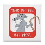 Year of The Rat 1972 Tile Coaster