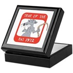 Year of The Rat 1972 Keepsake Box