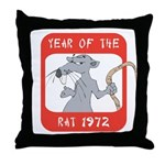 Year of The Rat 1972 Throw Pillow