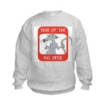 Year of The Rat 1972 Kids Sweatshirt