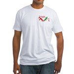 Dragon & Chameleon Symbol Fitted T-Shirt