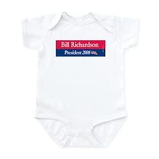 """""""Bill Richardson President"""" Infant Creeper"""