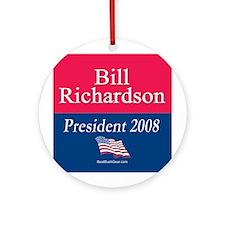 """Bill Richardson President"" Ornament (Round)"