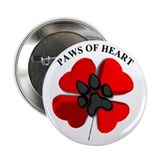 """Paws of Hearts"" Button"