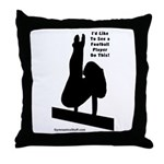 Gymnastics Throw Pillow - Ftbl