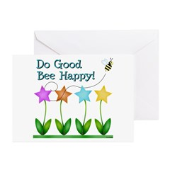 Bee Happy Greeting Cards (Pk of 20)