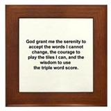 Scrabble Serenity Prayer Framed Tile