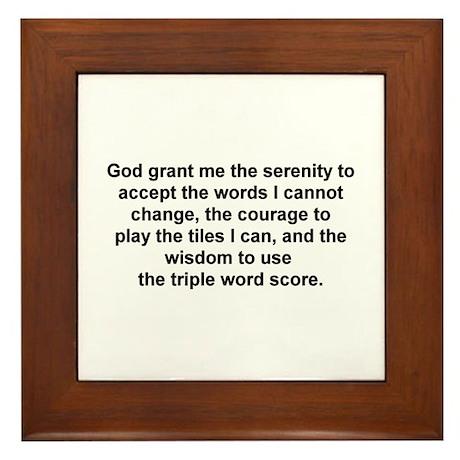 Scrabble Serenity Prayer Framed Tile By Scrblsrnitypryr
