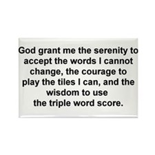 Scrabble Serenity Prayer Rectangle Magnet
