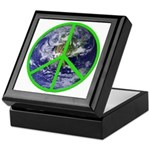 Earth Peace Symbol Keepsake Box