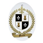 MEUSE Family Crest Oval Ornament
