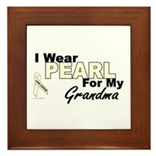 I Wear Pearl 3 (Grandma LC) Framed Tile