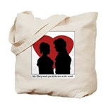 Jane Austen Darcy & Lizzy Tote Bag