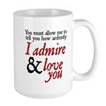Jane Austen Ardently Large Mug 
