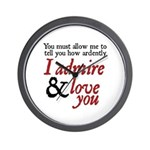 Jane Austen Ardently Wall Clock