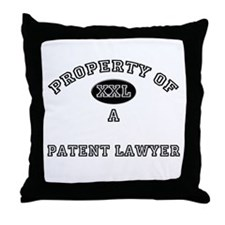 Property of a Patent Lawyer Throw Pillow