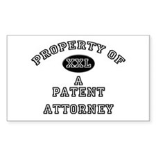 Property of a Patent Attorney Sticker (Rectangular